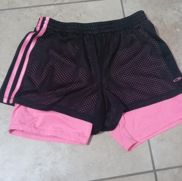 Girls pink running shorts